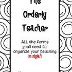 My teacher organization pack is on sale! Plus find coordinating freebies at my blog!