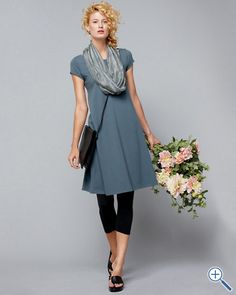 A line dress from eileen Fisher
