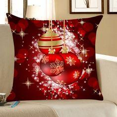 Lovely Decor For Christmas Home Amp Garden Christmas Christmas Pillow, Christmas Home, Christmas Bulbs, Christmas Decorations, Holiday Decor, Christmas Ornament, Cheap Pillows, Red Pillows, Decorative Pillow Cases