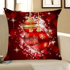 Lovely Decor For Christmas Home Amp Garden Christmas Christmas Pillow, Christmas Home, Christmas Bulbs, Christmas Decorations, Holiday Decor, Christmas Ornament, Decorative Pillow Cases, Throw Pillow Cases, Designer Pillow