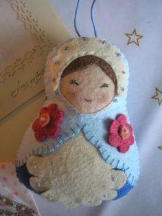 P1010666                                                                                                                                                     Plus                                                                                                                                                                                 Plus Felt Bookmark, Felt Embroidery, Matryoshka Doll, Felt Christmas Ornaments, Christmas Makes, Doll Crafts, Christmas Projects, Craft Fairs, Handmade Crafts