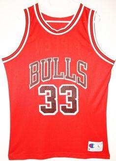 a087eb3f4 Champion NBA Basketball Chicago Bulls  33 Scottie Pippen Trikot Jersey Size  44 - Größe