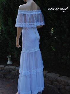 Beach wedding dress with sheer back $450