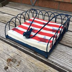 Entertaining for july 4th this navy blue napkin holder would make a
