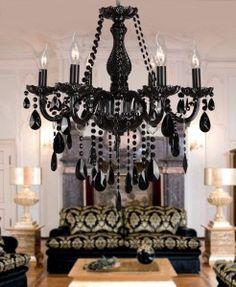 Black crystal chandelier k9 crystal