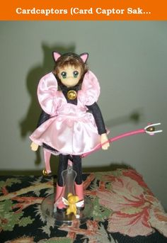 Cardcaptors (Card Captor Sakura) Pink Kitty Doll. Cardcaptors, a popular animation series, follows the adventures of 10-year-old Sakura and her classmate Li in their quest to capture the magical Clow Cards that Sakura accidentally released from the mysterious Clow Book. Together with Kero, a protector of the Clow Book, who looks like a small teddy bear with wings, they are swept up in a flurry of action and adventure as they seek new cards in every episode. In this doll set, Sakura wears…