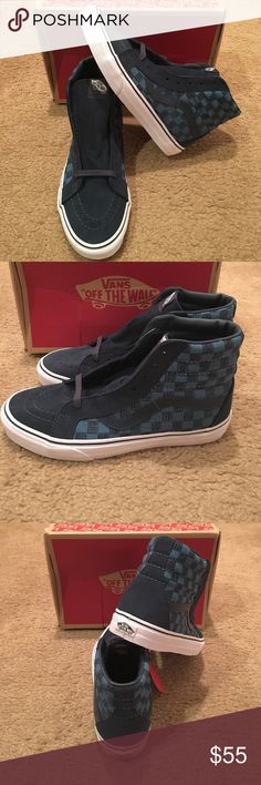 Stitch Checkers Sk8Hi Reissue Vans New in box. Blue Vans Shoes Sneakers