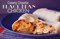 Creamy Chipotle Black Bean Chicken. Have it in a tortilla or as a dip. Sounds good to me!