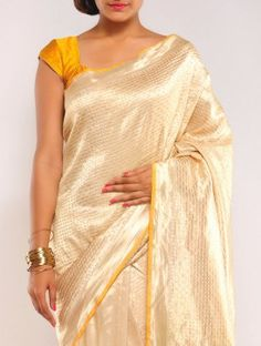 Gold Boheme Summer-Silk Saree