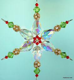 Beaded Christmas Decorations, Snowflake Ornaments, Christmas Snowflakes, Beaded Ornaments, Christmas Centerpieces, Christmas Crafts, Beaded Snowflake, Xmas, Beaded Ornament Covers
