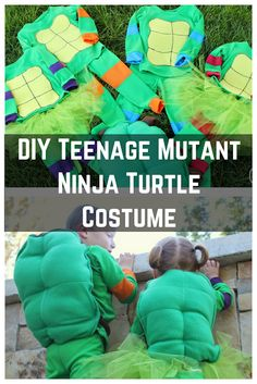 Teenage Mutant Ninja Turtle costume tutorial and pattern for Halloween or dress up Halloween Sewing, Halloween Kids, Halloween Crafts, Diy Crafts For Kids Easy, Kids Diy, Kids Crafts, Sewing Tutorials, Sewing Projects, Sewing Hacks