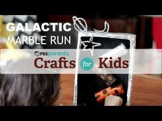 DIY Galactic Marble Run! Craft project + mini-physics lesson in one! @PBS @PBS Parents