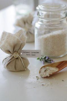 Oatmeal Lavender Bath Soak via homework