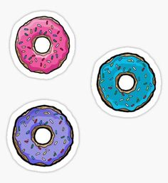 The Simpsons donut stickers Pegatina
