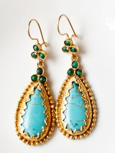 Because I can never have enough turquoise! #earrings #turquoise