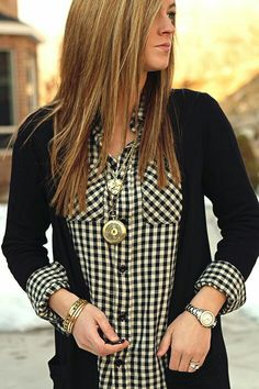 Like the plaid with a sweater