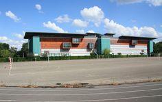"""Lycée Edgar Quinet - Bâtiment B - Bourg-en-Bresse - Exposition """"Prises de vues points de vue : 25 ans d'architecture publique dans l'Ain"""""""