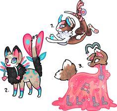 Valentinesday RARE traits species 2 Auction by griffsnuff.deviantart.com on @DeviantArt