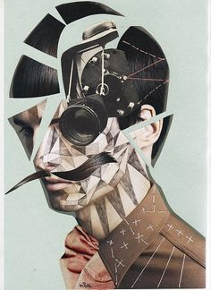Art Collage | Photography, Thread & Geometric Patterns. (? Credit ?)