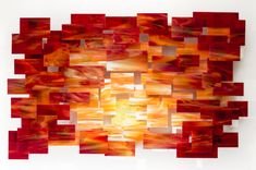 Sunset by Karo Martirosyan (Art Glass Wall Sculpture) | Artful Home