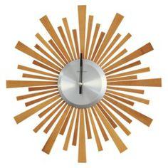 Threshold™ Starburst Bamboo Wood Wall Clock