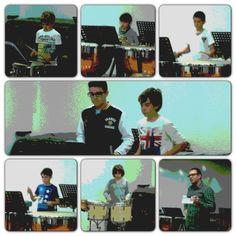 Foto-resum de l'audició de percussió del professor Xavier Cerdà (26-3-2013).