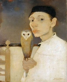 Jan Mankes (1889-1920) was a Dutch painter. He produced around 200 paintings, 100 drawings and 50 prints before dying of tuberculosis at the age of 30. His restrained, detailed work ranged from self portraits to landscapes and studies of birds and animals.