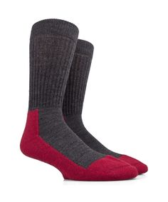 "Men's Socks ""Activity"" in Merino Wool - Grey and Himbeere - SockStyle.co.uk"