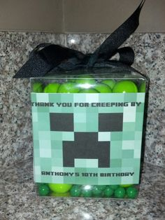 Minecraft party favor