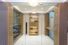 HGTV's House of Bryan 3 ft @ErthCOVERINGS Coral White Strips in the Wine Room #HouseOfBryan @Bryan_Baeumler