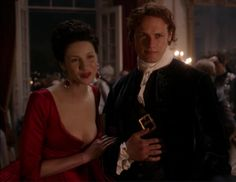 "Claire Fraser (Caitriona Balfe) and Jamie Fraser (Sam Heughan) in Season Two of Outlander on Starz, Episode Two ""Not In Scotland Anymore"" via https://outlander-online.com/2016/04/16/1550-uhq-1080p-screencaps-of-episode-2x02-of-outlander-not-in-scotland-anymore/"