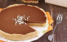 Crostata al caramello e cioccolato senza cottura Nutella, Italian Recipes, Tiramisu, Pudding, Sweets, Cooking, Breakfast, Ethnic Recipes, Desserts