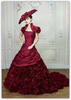 That's right Wedding Dress!!!- Ian Stuart: Masquerade Burgundy. I think it awesome and goes against everything most would wear!