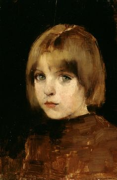 Helene Schjerfbeck (Finnish, 1862-1946). Portrait of a Young Girl, 1886. Finnish National Gallery, Helsinki