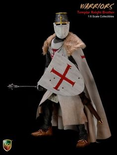 206.99$  Buy now - http://aliu89.worldwells.pw/go.php?t=32784513480 - ACI Toys 1/6 Crusader Knight Templar Brother Action Figure Collectible Model Toy