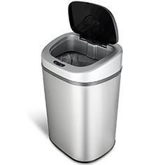 Garbage Can - Garbage Can ideas Motion Sensor Trash Can Touchless Stainless Steel Oval Kitchen 21 Gallon Garbage - Motion Sensor Trash Can Touchless Stainless Steel Oval Kitchen 21 Gallon Garbage Price : Camping Gadgets, Cool Gadgets, Kitchen Trash Cans, Style Loft, Outdoor Gadgets, Outdoor Gear, Thing 1, Stainless Steel Screws, Garbage Can