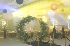 Gold Arch with Lots of Greens & Gold Gold & Black Gala Event: Go Easy LTD at the Blue Mountain | VintageBash