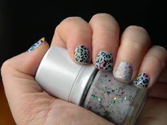 Colorful Leopard Nails