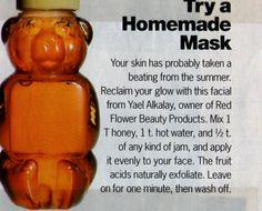 Honey mask facial