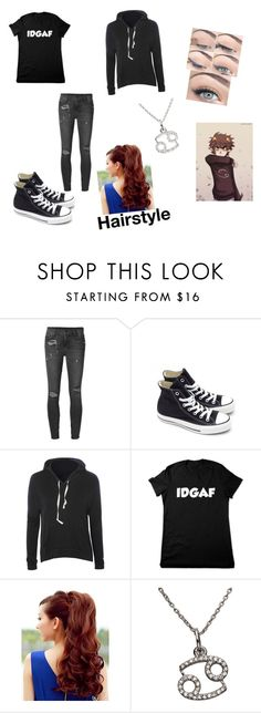"""Karkat Vantas Inspired"" by nightcore18 ❤ liked on Polyvore featuring Ksubi, Converse, Glamorous and KC Designs"