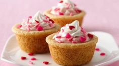 Need cookie tray sweets? Jump start a strawberries and cream sweet bite with a sugar cookie mix.