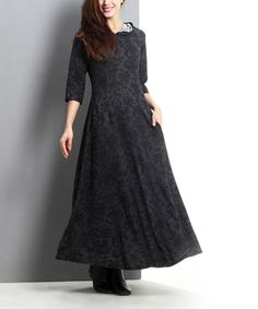 Look what I found on #zulily! Charcoal Damask Hooded Maxi Dress #zulilyfinds