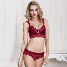 Floral Lace Push up Bralette and Panty Set. Bra And Underwear ... 0015f8156