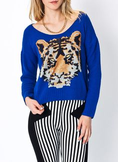 #sequined #tiger #sweater