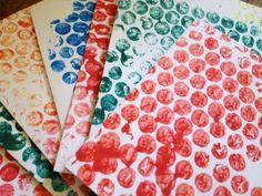 bubble wrap, print, paint, toddler, pre school, nursery, kids