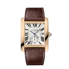 Tank MC watch - Automatic, gold, leather - Fine Timepieces for men - Cartier