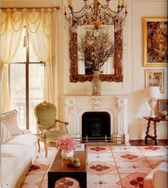 Richard Keith Langham's New Orleans home 'Casa Bravura' House Beautiful October 2000