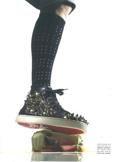 YSL Malibu High top Sneaker in Natural Leopard Printed