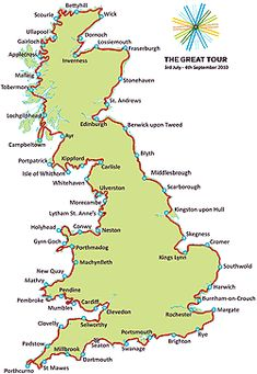 The Ride – 2013 | Bike Around Britain Road Trip Map, Road Trips, Map Of Britain, Going On Holiday, Travel Tours, Scotland Travel, British Isles, Cycle Route, Bike Packing