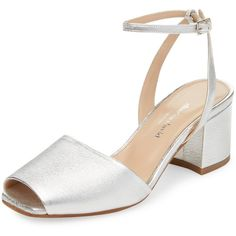 Charles David Women's Cube Leather Sandal - Silver, Size 10 (445 BRL) ❤ liked on Polyvore featuring shoes, sandals, silver, high heels sandals, leather sandals, charles david sandals, genuine leather shoes and charles david shoes